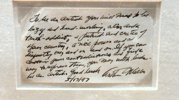Arthur Miller note