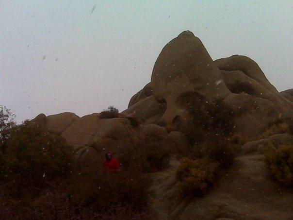 Skull Rock in the snow