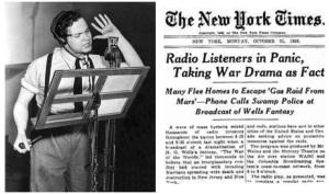 War of The Worlds by Orson Welles [photo source: skepticalteacher.wordpress.com]