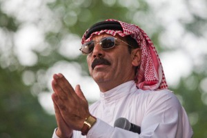 Omar Souleyman in Central Park, 2011 [photo source: David Andrako]