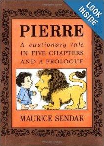 Pierre, book cover [copyright Maurice Sendak, Harper Trophy]