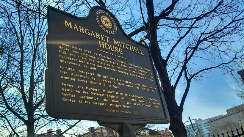 Margaret Mitchell House plaque
