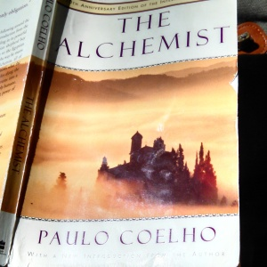 my tattered copy of The Alchemist by Paulo Coelho