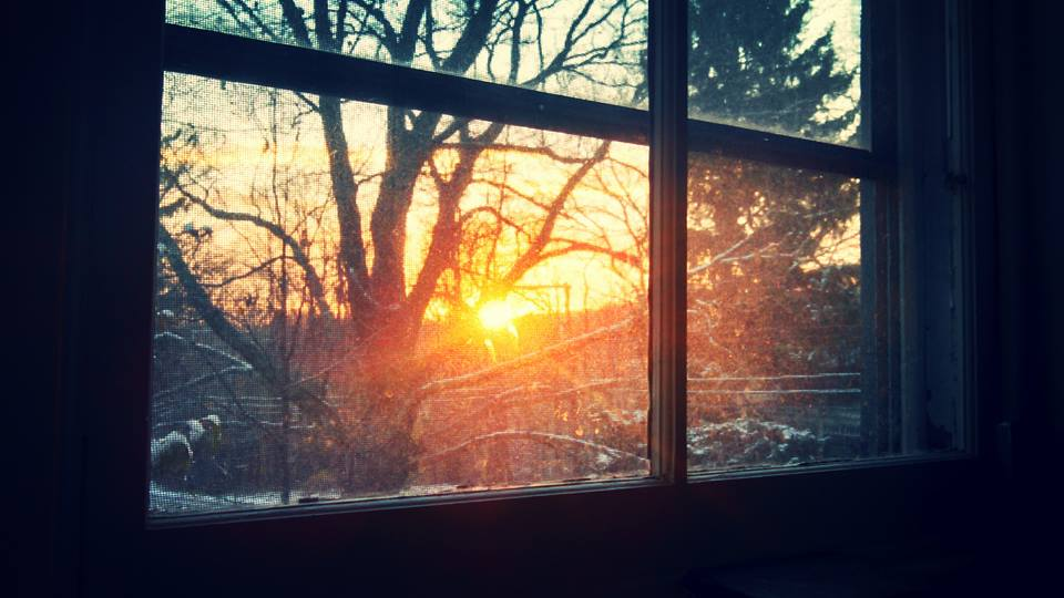 Sunrise from my office window