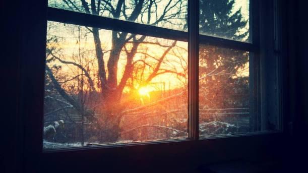 Sunrise from my office window